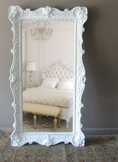 Vintage Leaning Mirror, Floor Mirror, Hollywood Regency. $699.00, via Etsy.