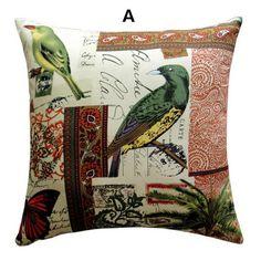 Pop Art bird throw pillow decorative home couch cushions 18 inch
