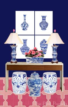 The Pink Pagoda: Blue and White Monday