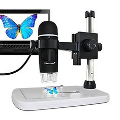From 48.99:Maozua 5mp 20x-300x Magnifier Usb Microscope 5mp With Professional Base Stand For Windows Mac Vista With 8 Led Lights
