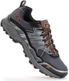Journey through your favorite trails in these men's FILA Tractile trail running shoes. Salomon Shoes, Best Trail Running Shoes, Ballerina Flats, Buy Shoes, Shoe Brands, Hiking Boots, Sneakers, Leather, Footwear