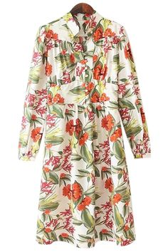 Stand Collar Floral Print Dress: http://www.zaful.com/stand-collar-floral-print-dress-p_21137.html?lkid=180