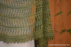 """Sunny with a Chance of Knitting: New shawl design: """"Palessie""""."""