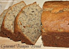 Gourmet Banana Bread heated up with a bit butter - Mmmmm! Just Desserts, Delicious Desserts, Dessert Recipes, Yummy Food, Ripe Banana Recipe, Banana Bread Recipes, Best Banana Bread, How Sweet Eats, Sweet Bread