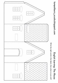 christmas paper house template paper house template awesome definitely want to design some for christmas paper houses templates - Templates Station Putz Houses, Village Houses, Christmas Paper, Christmas Home, Xmas, Christmas Ornament, Christmas Ideas, Diy Paper, Paper Crafts