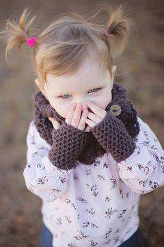 Childrens Fingerless Gloves  Baby Gloves  Crochet by KnotsaPlenty