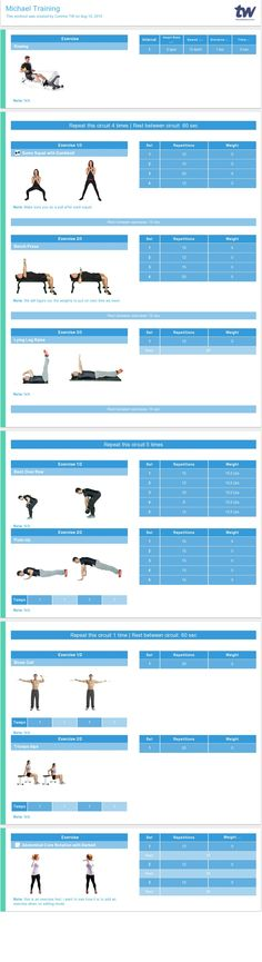 Pretty Personal Trainer Workout Template Images \u003e\u003e Workout Schedule