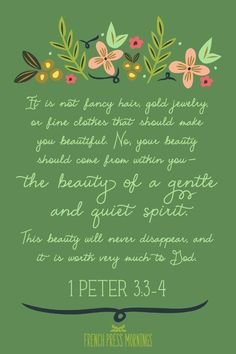 Girl's Nursery Art watercolor illustration featuring verse 1 Peter about Adornment, digitally printed scripture art Bible Verses Quotes, Bible Scriptures, Scripture Art, Lds Quotes, Bible Art, French Press Mornings, 1 Peter 3, Makes You Beautiful, Beautiful Women