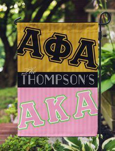 Skee Wee! Home - Garden Yard Flag or House Flag Banner - Alpha Kappa Alpha Sorority