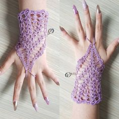Lavender ring bracelet crocheted with light purple silk and finished with metal adjustable closure. Ready to be shipped Gift bag included Thank you for visiting my shop Thread Crochet, Crochet Lace, Free Crochet, Lace Bracelet, Ring Bracelet, Fingerless Gloves Crochet Pattern, Unique Crochet, Lace Jewelry, Cute Earrings