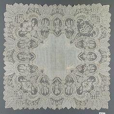 Handkerchief in Needle Lace 1860-1880