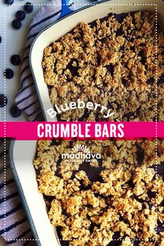 Blueberry Crumble Bars | Madhava