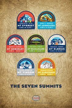 "Seven Summits Poster 20 x 30"""