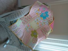 Baby quilt with six fat quarters and applique.