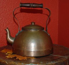 Vintage Cooper Tea Kettle by BlackEyedSusanShop on Etsy, $24.00