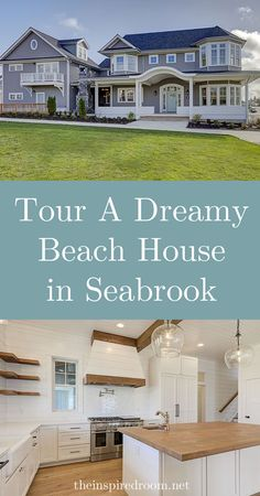 Tour A Dreamy Beach House in Seabrook - The Inspired Room Coastal Farmhouse, Modern Coastal, Modern Farmhouse Style, Coastal Homes, Coastal Style, Wythe Blue, Beach House Tour, Cute Cottage, Dutch Door
