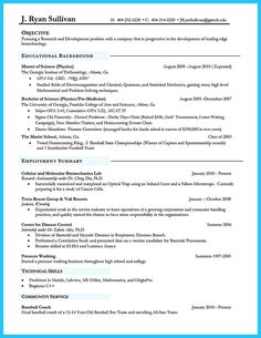 biotech resume template