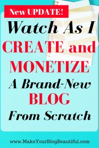 Follow along as I create and monetize a brand new blog from scratch!