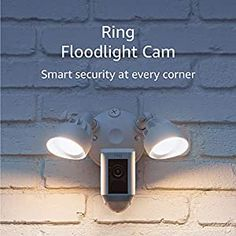 """Connect your Ring camera with Alexa then enable announcements to be alerted when motion is detected. Talk to visitors through compatible Echo devices by saying """"Alexa, talk to the front door"""". Lets you see, hear and speak to visitors from your phone, tablet and PC With a Ring Protect Plan (subscription sold separately), record all your videos, review what you missed for up to 60 days, and share videos and photos. Requires hardwired installation to weatherproof electrical boxes Technology Gifts, Old Technology, Lights And Sirens, Ring Video Doorbell, Light Ring, Protecting Your Home, Rings Cool, Security Camera"""