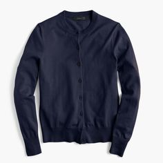 Cotton Jackie cardigan sweater : Vintage Indigo 2016 (very dark blue almost black) Sweater Set, Cardigan Sweaters For Women, Sweater Cardigan, Cardigans, Blue Cardigan, Cotton Cardigan, Casual Friday Outfit, My Wardrobe, Capsule Wardrobe
