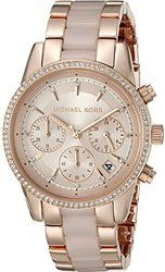 Michael Kors Women's Blair Two-Tone Watch - - WOMEN`S WATCHES - Features. Rose gold-tone stainless steel bracelet with blush colored acetate center links. Michael Kors Outlet, Handbags Michael Kors, Michael Kors Watch, Carolina Herrera, Casual Watches, Watches For Men, Watches Usa, Female Watches, Wrist Watches