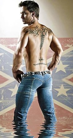 Love a guy in wet tight assed jeans. C'mon get'em all wet.
