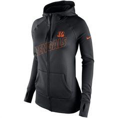 Women's Cincinnati Bengals Majestic Charcoal Scramble Sport Crew Fleece Sweatshirt