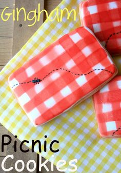 Picnic cloth painted cookie