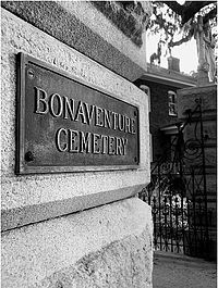 Bonaventure Cemetery located on the site of a plantation originally owned by John Mullryne
