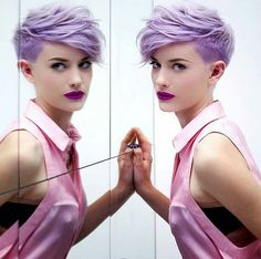 Image result for pink pixie undercut
