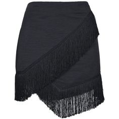 Fringe Trim Wrap Skirt - Topshop USA cute as a dance skirt! Fall Skirts, Short Skirts, Mini Skirts, Wrap Skirts, Fringe Skirt, Fringe Trim, Kleidung Design, Topshop Skirts, Tiered Skirts