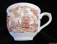"""""""Fair Winds"""" Cup Alfred Meakin Staffordshire.  $6 on GoAntiques.  #Vintage #Dinnerware #Alfred Meakin Staffordshire #""""Fair Winds"""""""