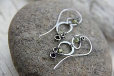 Sterling silver threader earrings with peridot by Keepandcherish