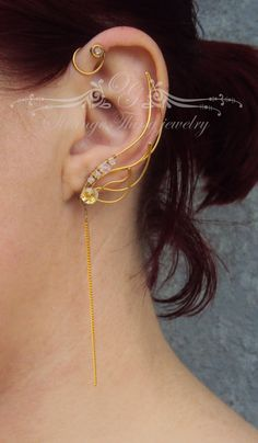 Ear cuffs Fire wings by StrangeThingJewelry on Etsy