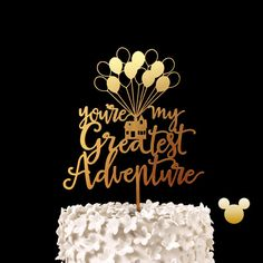 You're My Greatest Adventure Up House Wedding Cake Topper