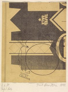 Kurt Schwitters, 'Table Salt' 1922