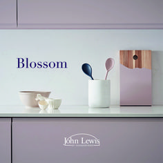 Blossom by John Lewis of Hungerford. A soft muted pink, once used mainly for accents, now a feature colour in its own right; fabulous for both kitchens and bedrooms. Satin Gloss, Kitchens And Bedrooms, Kitchen Paint Colors, Colorful Furniture, Floating Nightstand, John Lewis, It Is Finished, Colours, Pink