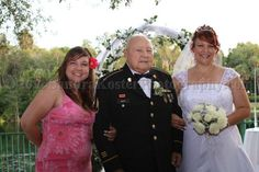 Silver Springs Theme Park wedding, May 2011. A proud father with his girls.