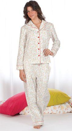 """Tulips"" Poplin Pajamas are perfect for ""Pajama Days"" $59.99 - SHOP http://www.thepajamacompany.com/store/18522.html?category_id=11383"