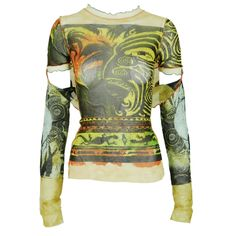 Buy your multicolour synthetic top Jean Paul Gaultier on Vestiaire Collective, the luxury consignment store online. Second-hand Multicolour synthetic top Jean Paul Gaultier Multicolour in Synthetic available. Pretty Outfits, Cool Outfits, Fashion Outfits, Jean Paul Gaultier, Top Jean, Mode Inspiration, Vogue, Look Cool, Clothing Items