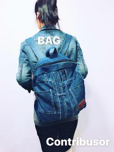 Contribusor Upcycle denim bag by Wis Grace - Get your customized denim bag & Donate your old denim. We are not only a 'consumer' but also a 'contributor' for Faith, Earth, People.   ( We are helping Africa Poverty children from 30% of our profit: Participate 'Contribusor' community as well.) Denim Bag, Upcycle, People, Jackets, Africa, Bags, Faith, Community, Children