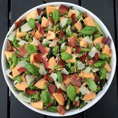 Sommersalat m. melon Raw Food Recipes, Italian Recipes, Salad Recipes, Vegetarian Recipes, Healthy Recipes, Healthy Salads, Healthy Cooking, Healthy Eating, Waldorf Salat