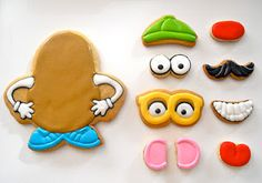 Play With Your Food: Mr. Potato Head Cookies