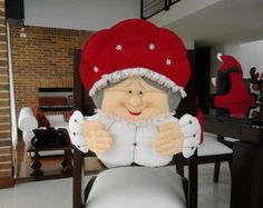 Capa Cadeira Natal Mamãe Noel