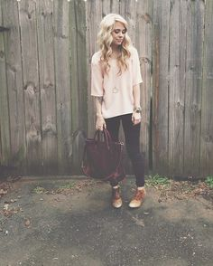 Matisse Booties, Madewell Coated Denim, Madewell Leather Bag, Topshop Pink Top, The Sneerwell Oricle