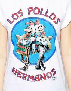 Image 3 ofASOS Boyfriend T-Shirt with Los Pollos Breaking Bad Print