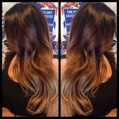Fall colors ombre hair✂