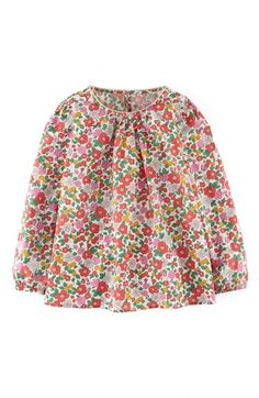 Mini Boden 'Pretty' Print Top (Toddler Girls, Little Girls & Big Girls) available at #Nordstrom Lolo