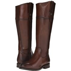 Frye Jayden Button Tall (Redwood Smooth Vintage Leather) Cowboy Boots ($398) ❤ liked on Polyvore featuring shoes, boots, knee-high boots, tall western boots, tall cowboy boots, knee high cowgirl boots, equestrian boots and riding boots