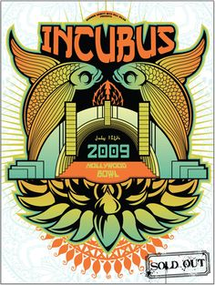 Incubus New metal rock psychedelic music poster  ☮~ღ~*~*✿⊱  レ o √ 乇 !! ~